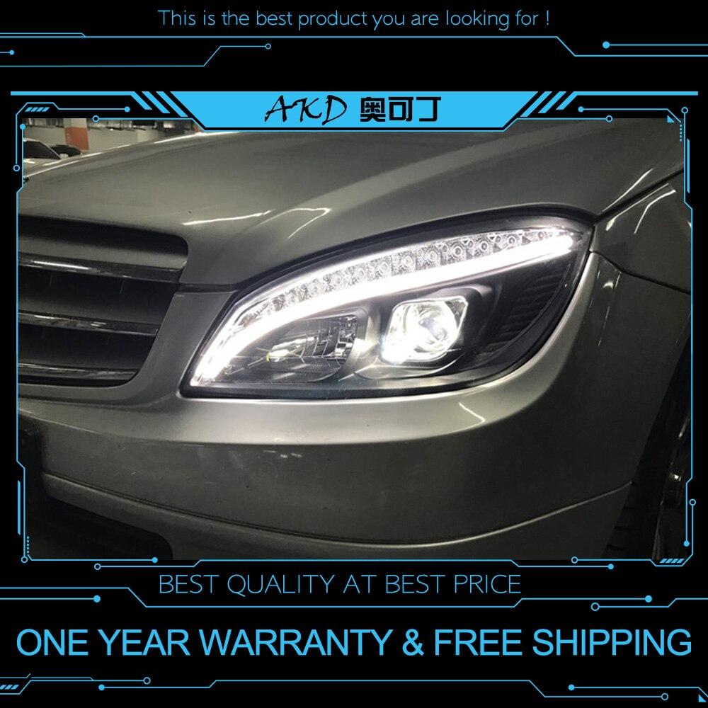 AKD tuning voitures phare pour W204 phares 2007-2010 C300 C260 mise à niveau W205 phare LED DRL Hid Bi xénon Auto accessoires - 3