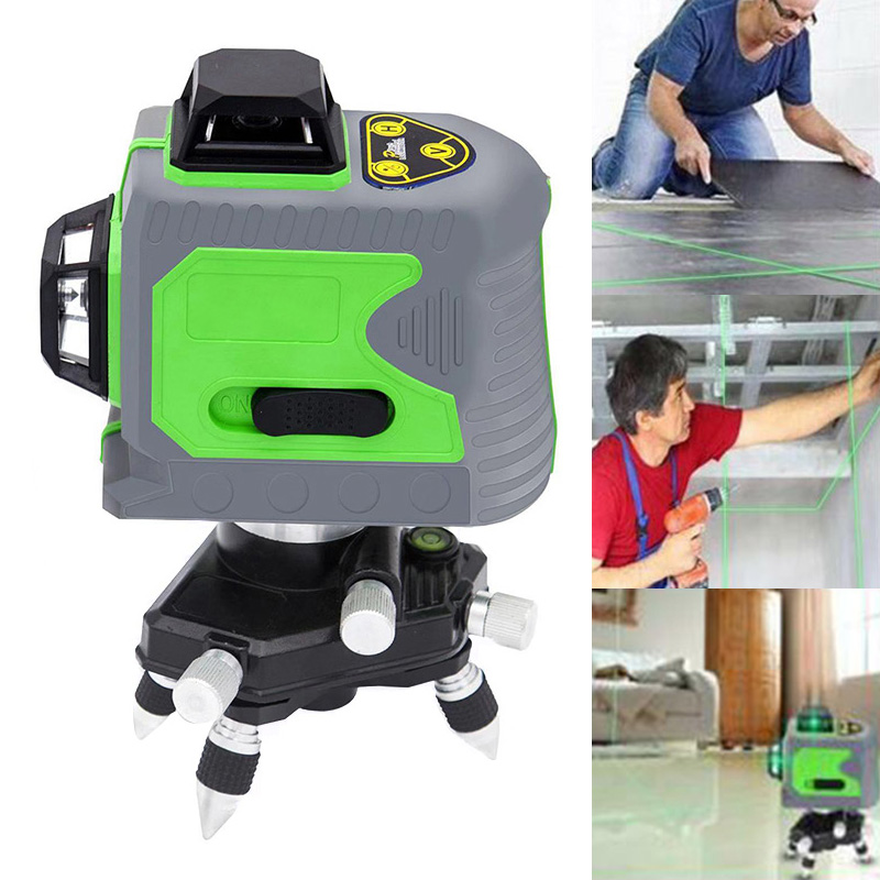 12 Line 3D Infrared Ray Waterproof Self-Leveling Pivoting Base with Green Beam AI8812 Line 3D Infrared Ray Waterproof Self-Leveling Pivoting Base with Green Beam AI88