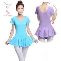 Adult Ballet Dance Leotard One Piece Dress Female Short Sleeve Ballet Tutu Dress For Ballet Dancer