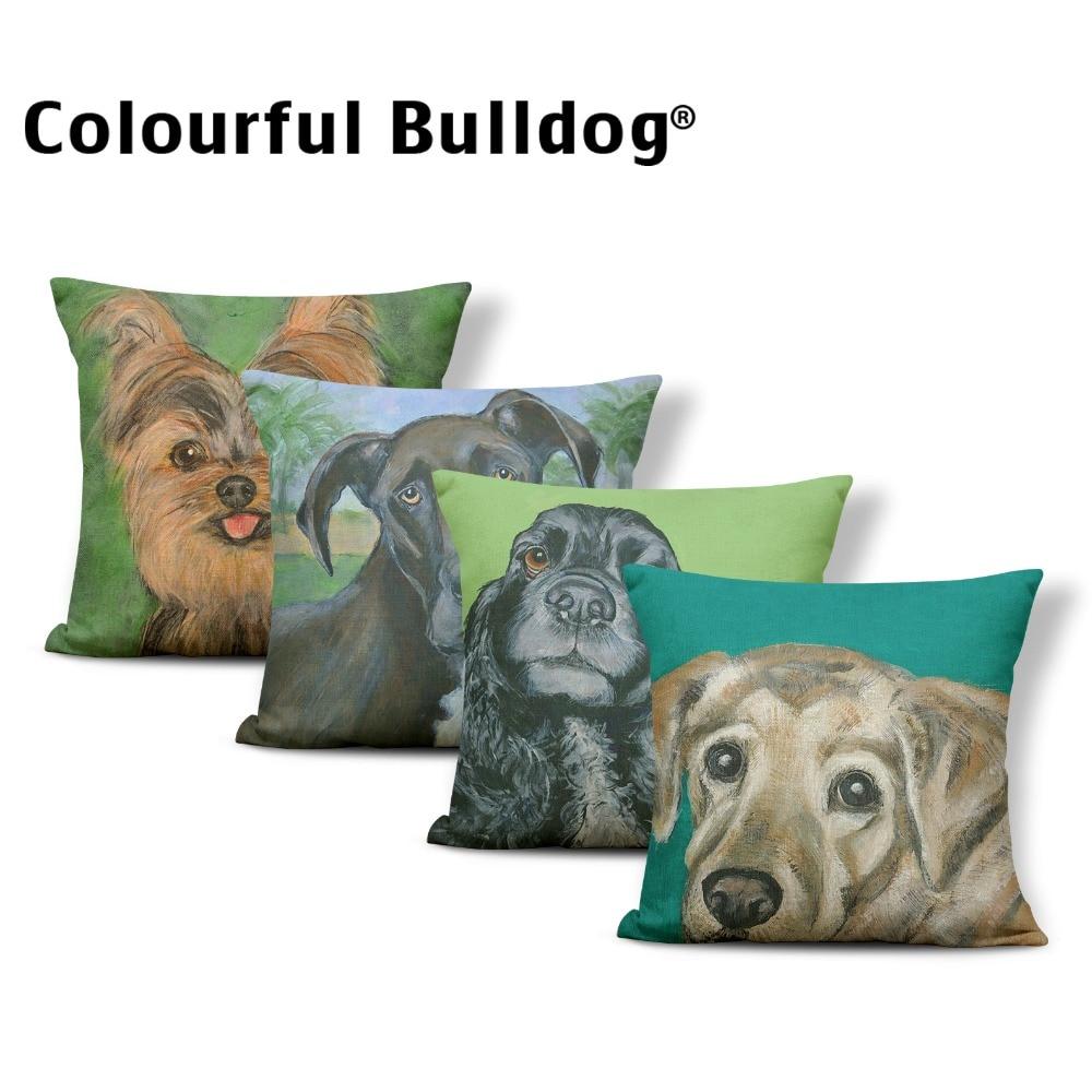 Animal Schnauzer Cushions Pets Pillowcases Hound Hunting Whitby Dog Rottweiler Home Decor Dakimakura Large Burlap Custom Made