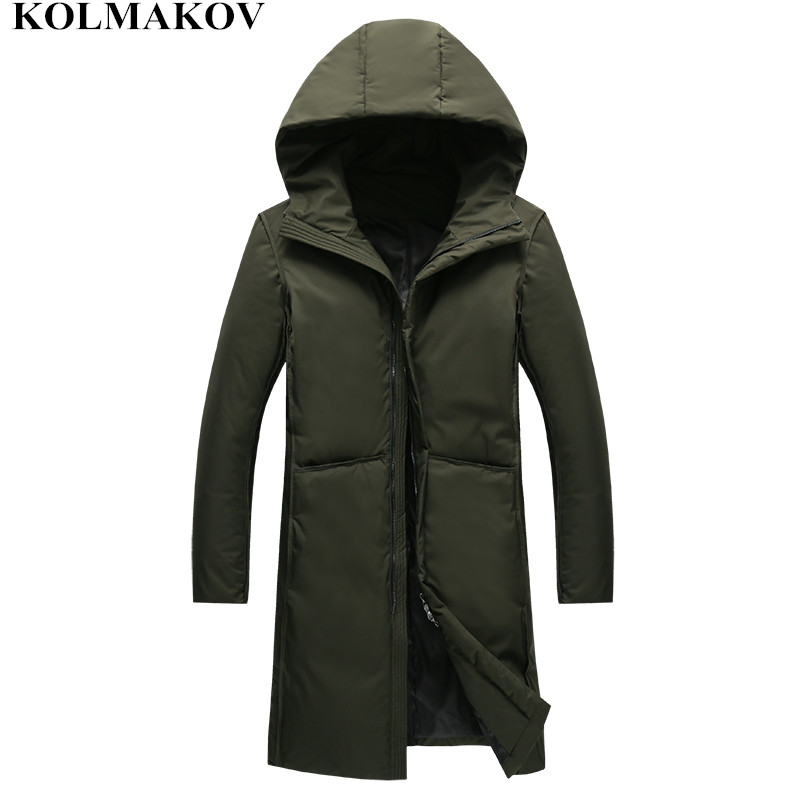 NEW Winter Down Coats 2018 men Hooded Coat mens Parkas skinny thicken Overcoats homme casual Top Quality Jackets Full Size M-3XL