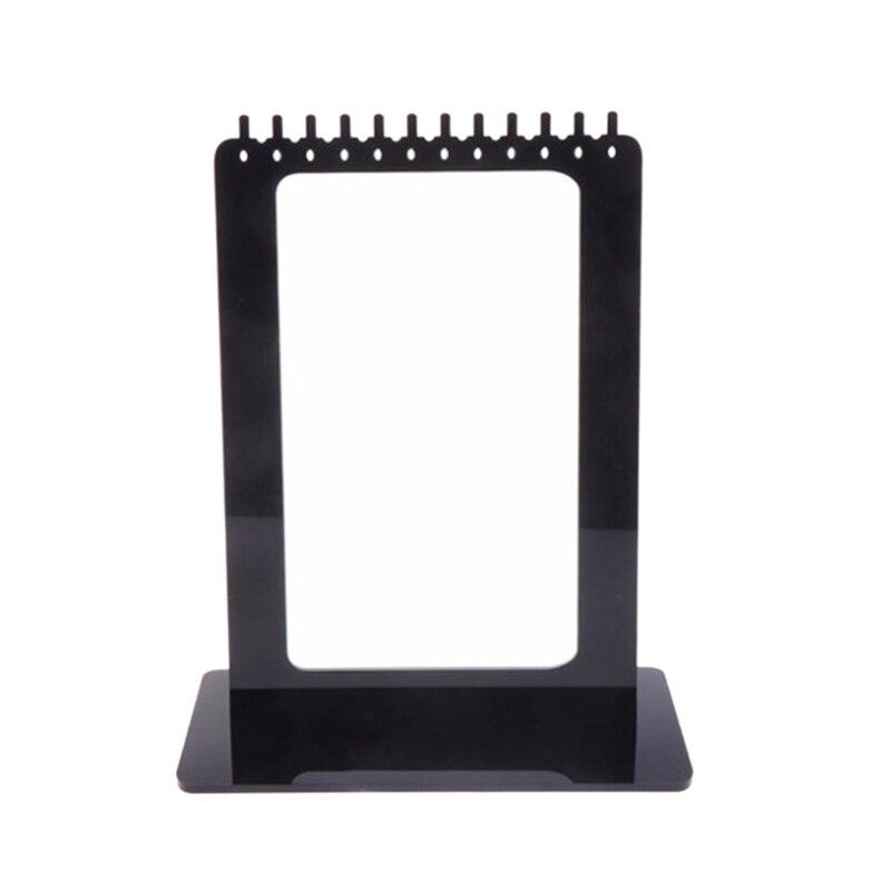 Jewelry Display Rack Acrylic Rectangle Earrings Holder Stand Storage Organizer