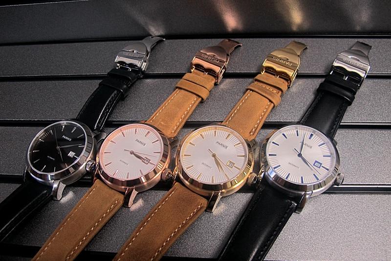 42mm Parnis Japan Automatic Movement Sapphire Fashion Business Men Watch 4 Colors