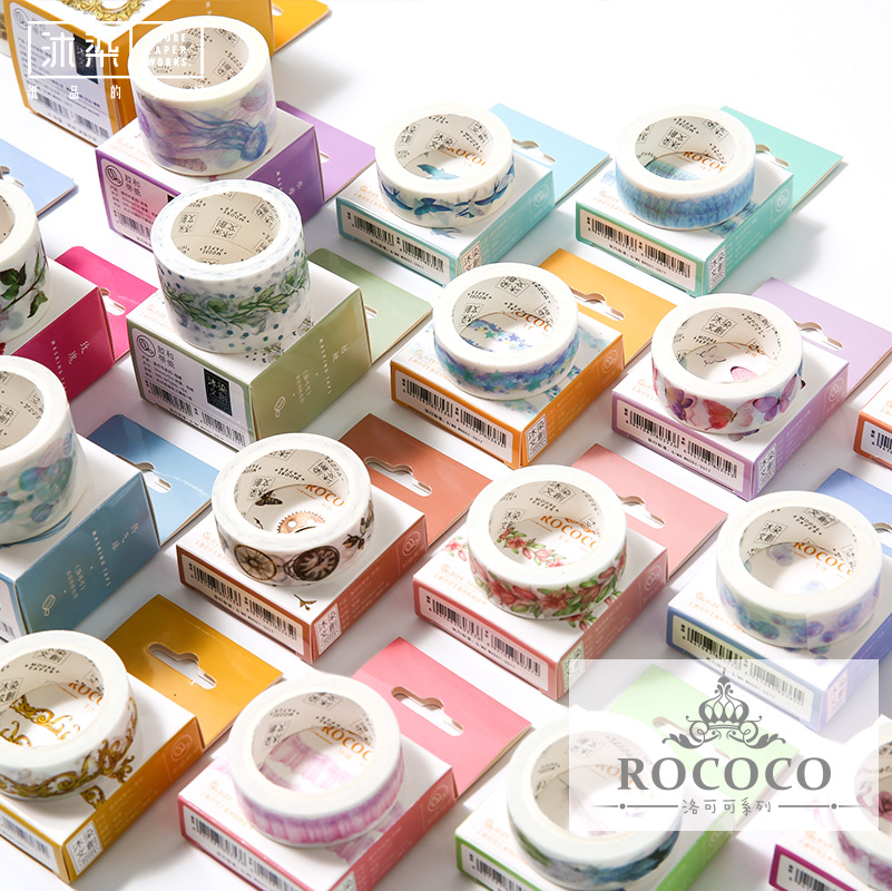Rococo Dance Castle Feather Rose Fire Balloon Washi Tape DIY Scrapbooking Sticker Label Masking Tape School Office Supply