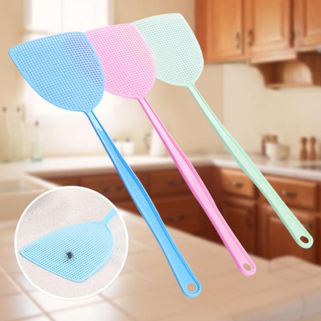 1 pz Fly Swatter Controllo Dei Parassiti Manuale di Plastica Durevole Manico Lun