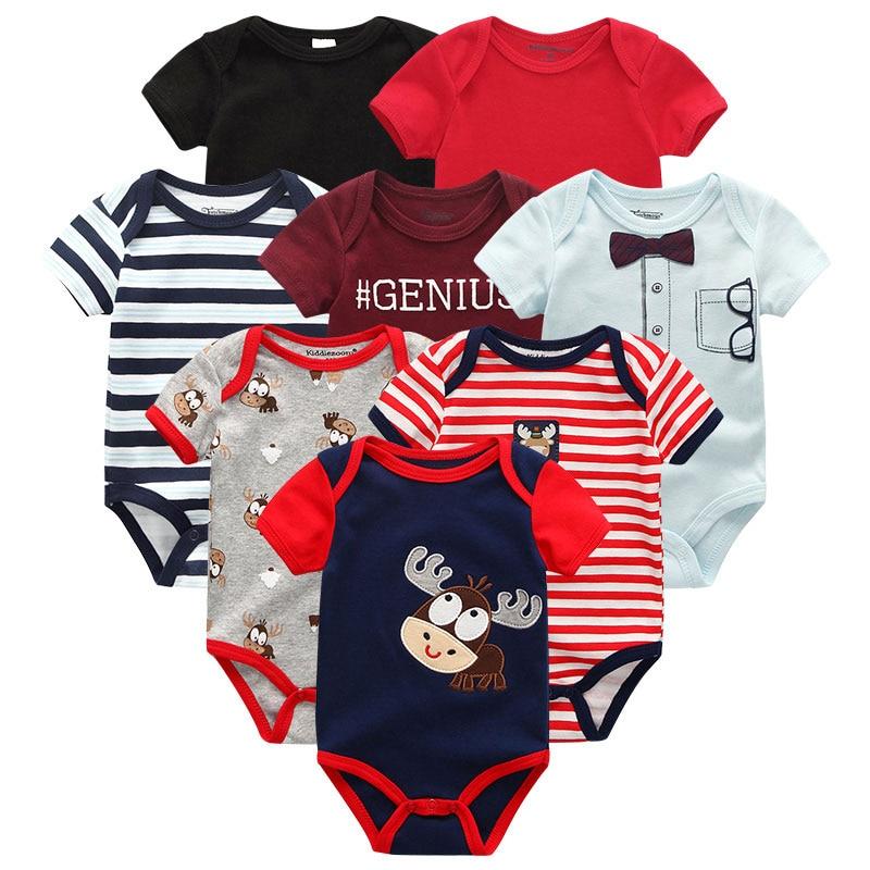Baby Clothes 8Pcs/lots Unisex Newborn Boy&Girl Rompers Roupas De Bebes Cotton Infant Toddler Jumpsuits Baby Clothing