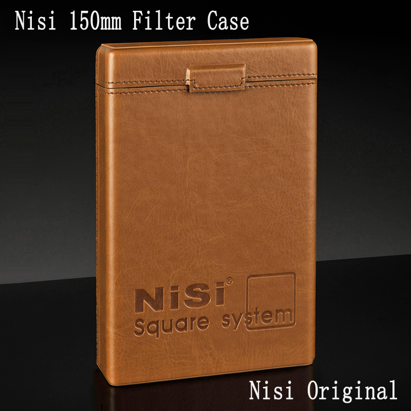 Nisi 150X170mm/150X150mm Filter Case 18x16cm, Leather Filter Pouch Bag Storage Box, For Up To 6 pcs Filters travel aluminum blue dji mavic pro storage bag case box suitcase for drone battery remote controller accessories