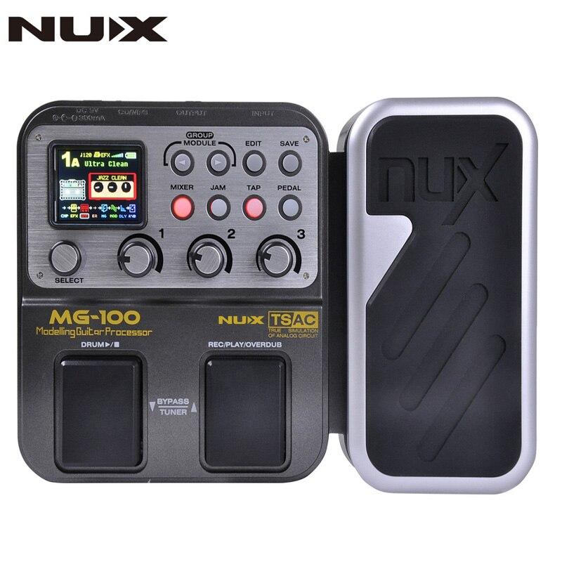 NUX MG-100 pédale de guitare Multi effets pédale processeur 58 effet modèles 20 secondes boucle tambour Machine 8 effets simultanément