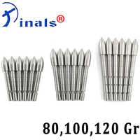 Archery Stainless Steel Arrow Tips Points 80 100 120gr Broadheads for ID4.2mm Carbon Arrows Shaft Bow Hunting Shooting