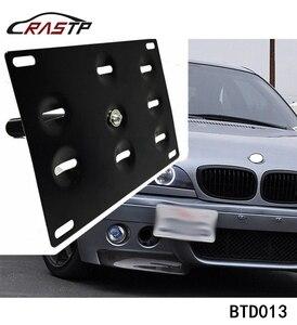 Image 1 - RASTP soporte de montaje de placa de matrícula para parachoques delantero de coche, gancho de remolque, color negro, RS BTD013