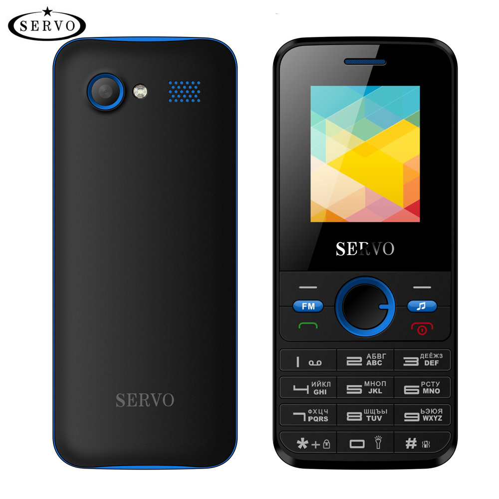 Original Phone SERVO V8240 1.77inch Dual SIM Card GPRS Vibration Outside FM Radio cellphone with Russian keyboard multi language image