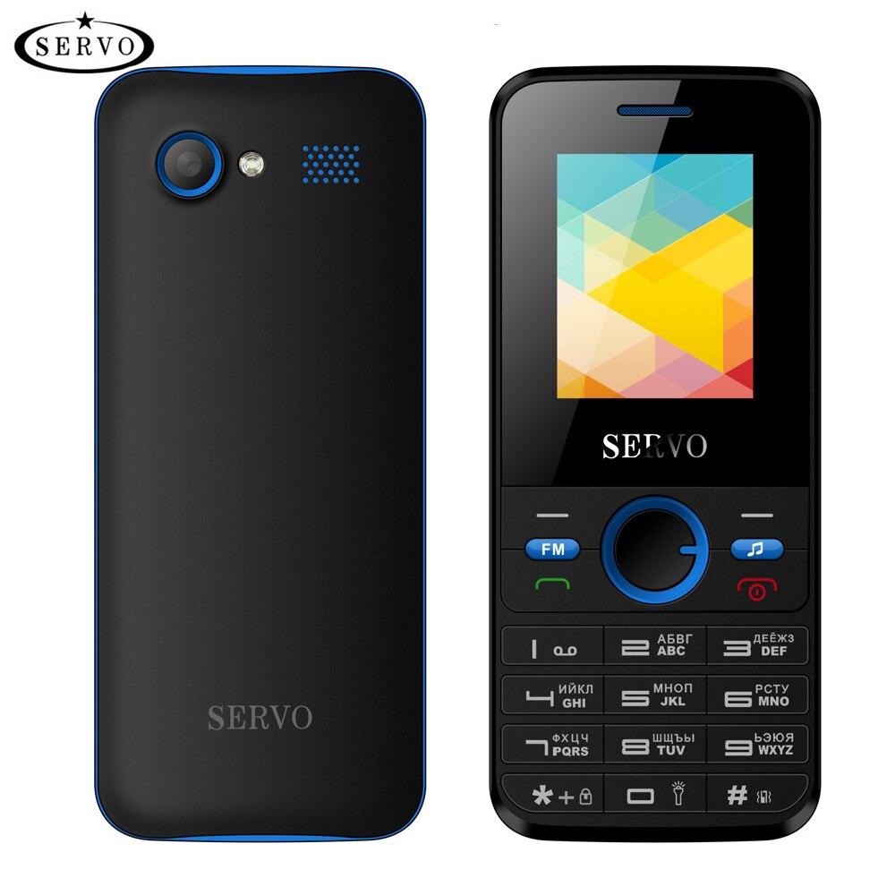 Teléfono Original SERVO V8240 1,77 pulgadas Doble tarjeta SIM GPRS vibración fuera FM Radio celular con teclado ruso multi language