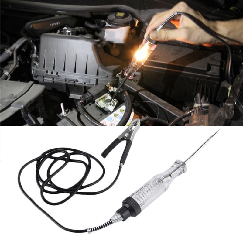 Auto Car Voltage Tester Electrical Test Pen Pencil Car Motorcycle Circuit Detection Repair Tools Voltage Meter 6V-24V