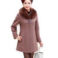 WMWMNU Winter Coat Women 2017 New Autumn Winter Fashion Women Coat Cashmere Coat For Elderly Women