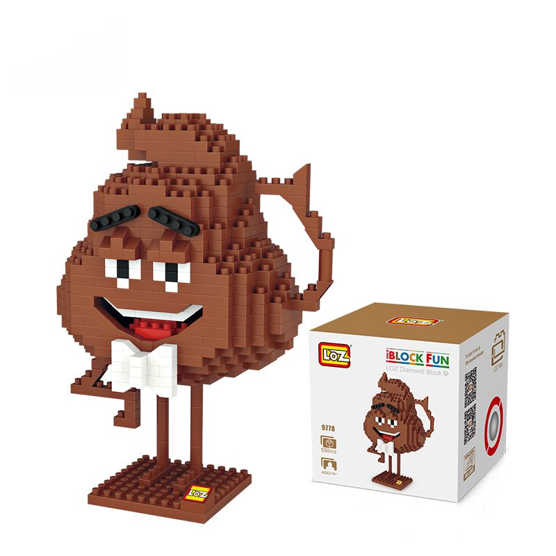 Mini aranyos rajzfilm csokoládé bab szív 530db Poo Gene műanyag - Építőjátékok