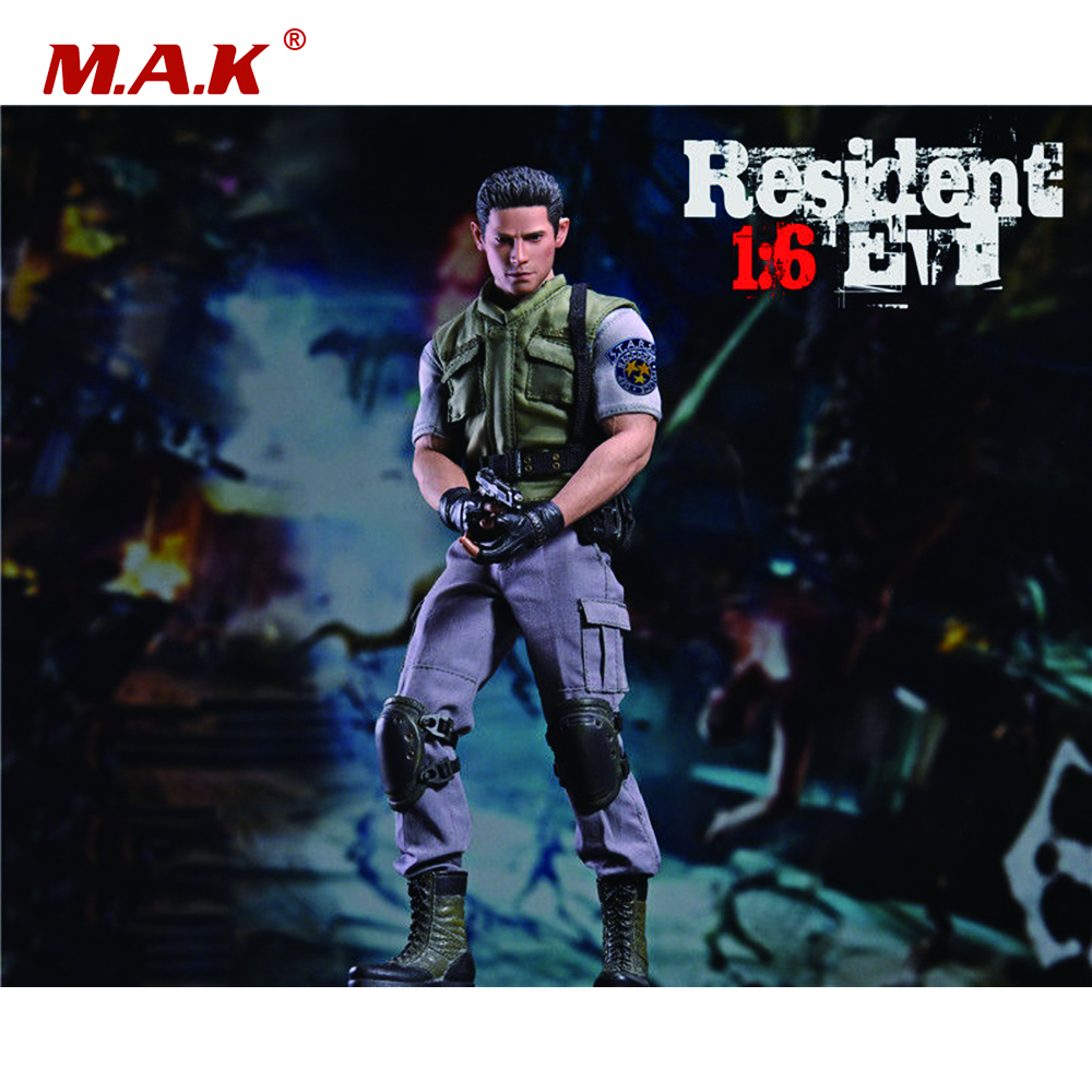 1/6 Scale Resident Evil Policeman Chris Redfield Full Set Figure for Collections Toys Gifts