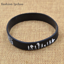 fashion lychee Japan Anime Cartoon Figure Printed Silicone Rubber Bracelet Bangle Causal Wristband Cosplay Accessories Gift