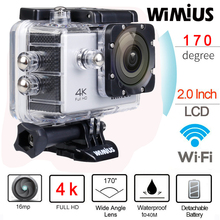 Wimius 4K Wifi Action Camera 2.0″LCD Full HD 1080P 60fps Helmet Sports Mini DV 170D Lens 40M Waterproof  Diving Camara Deportiva