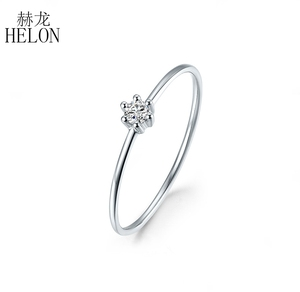 Image 2 - Sterling Silver 925 VVS/HG Moissanite Rings For Women Solitaire Engagement Wedding Trendy Fine Jewelry Elegant unique Gift Ring