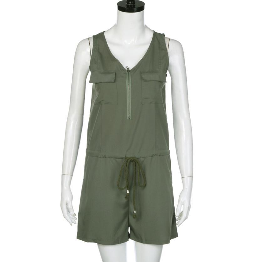 Mooistar # L030 Мода 2017 г. Для женщин сексуальный комбинезон без рукавов Топ боди летняя пляжная одежда