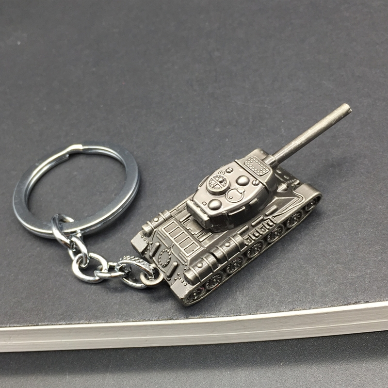 Fashion Game WOT World Of Tanks Keychain Men Vintage Silver Tank Key Chain Bag Charm Key Ring Male Souvenir Gift Jewelry Trinket