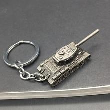 Fashion Game WOT World Of Tanks Keychain Men Vintage Silver Tank Key Chain Bag Charm Key Ring Male Souvenir Gift Jewelry Trinket