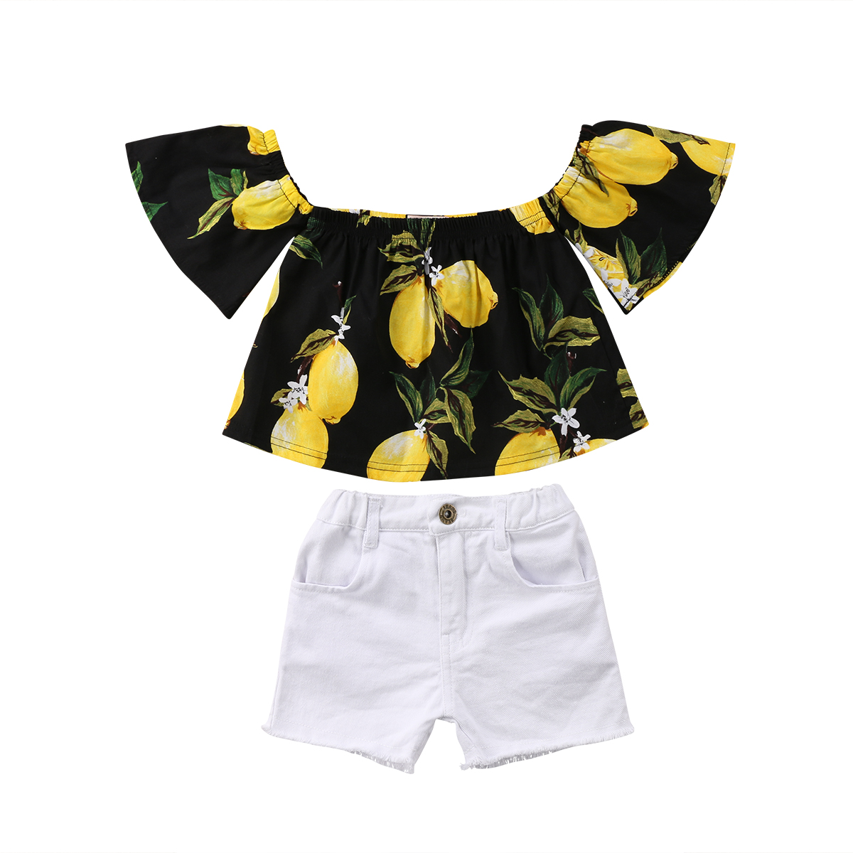 2018 Baby Girls Summer Clothes Toddler Kids f Shoulder