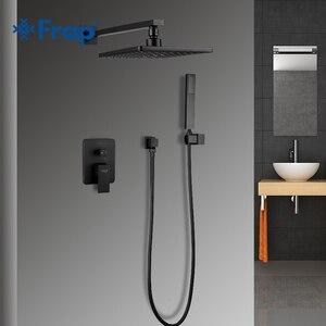 Image 1 - FRAP robinet mitigeur de baignoire et douche carré de salle de bains et douche en laiton sy tem robinet mitigeur de baignoire et douche à cascade Y24023