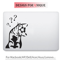 Curious Cat Decal Cute Animal Laptop Sticker for Apple Macbook Pro Air Retina 11 12 13 15 inch Mac HP Acer Mi Surface Book Skin