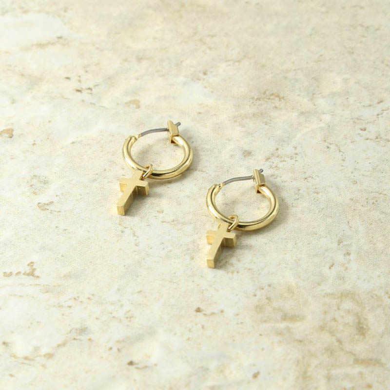 0912c7ccb8d90 GHIDBK Gold Color Small Tiny Cross Hoop Earrings for Women Minimalist Metal  Huggies Earrings Hoops Boho Piercing Charms Earrings