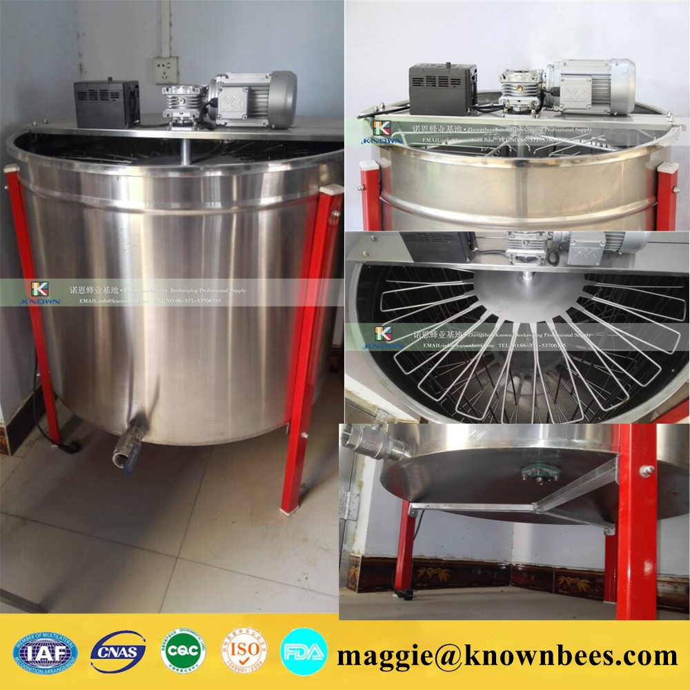 24 frame electric radial honey extractor for Centrifuge ship by sea 6 frames reversible honey extractor for bee keeping