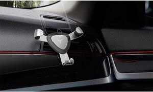 Image 5 - Support de montage dévent en alliage daluminium universel dans la voiture pour xiaomi iphone Samsung Support réglable par gravité téléphone de voiture Mobile