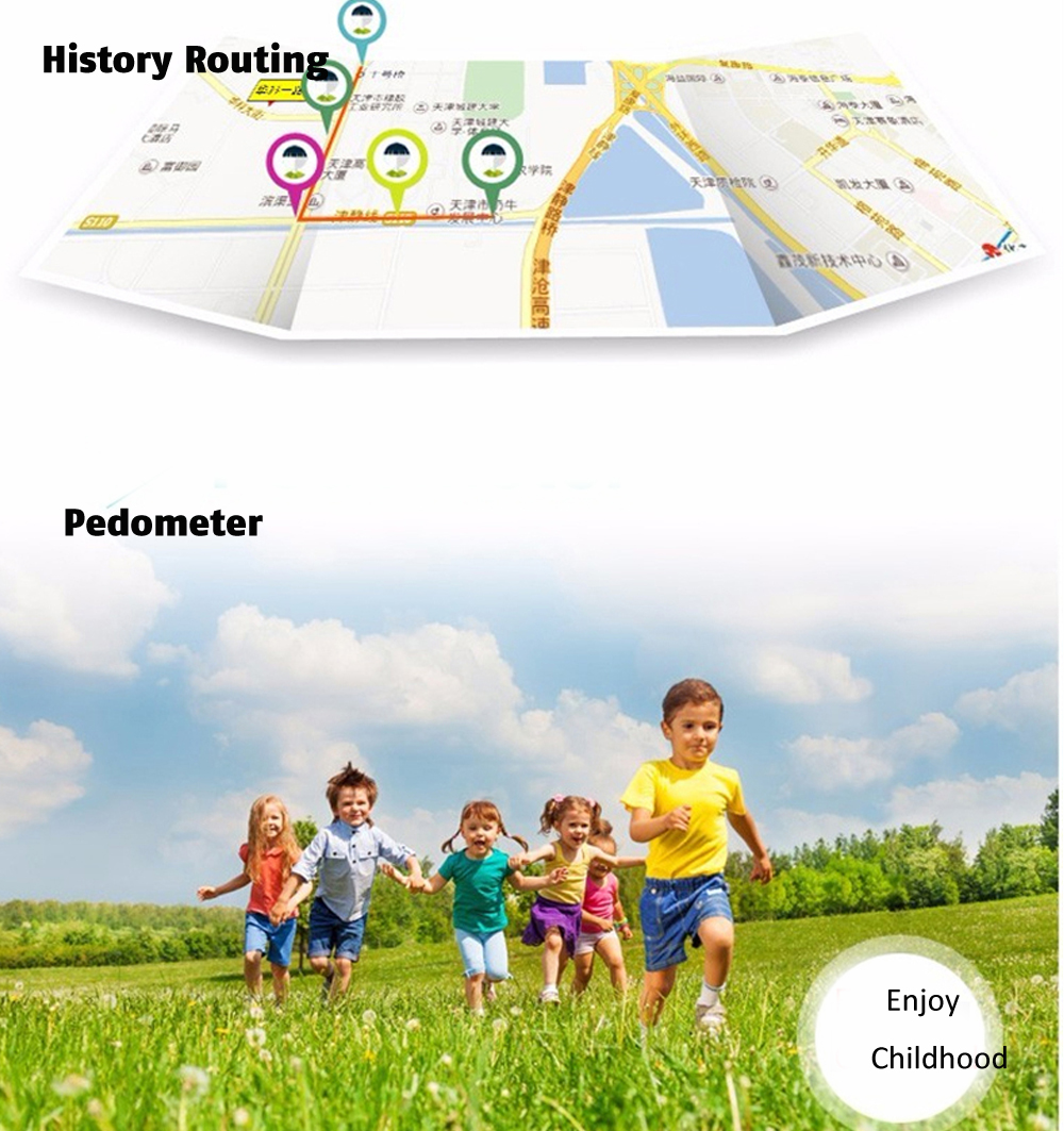 Q50 OLED Child GPS Tracker SOS Smart Monitoring Positioning Phone Kids GPS 009