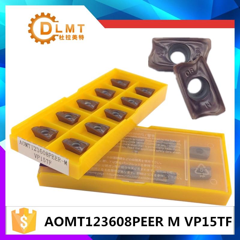 فرز برش AOMT123608PEER M VP15TF 20PCS درج دستگاه - ماشین ابزار و لوازم جانبی