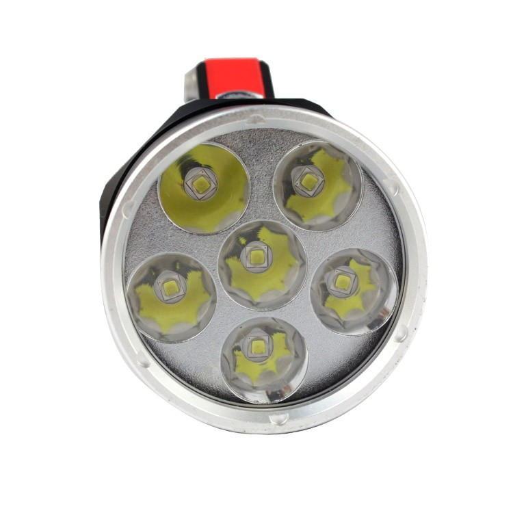 ANJOET Portable lighting Super bright Lantern Silver/Black Underwater Flashlight 6000LM 6*XM L2 LED Waterproof Diving lamp - 2