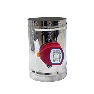 Image 2 - 80mm thép không gỉ không khí giảm chấn van HVAC điện Ống cơ giới Van 3 inch ống thông gió kiểm tra van 220V 24V 12V