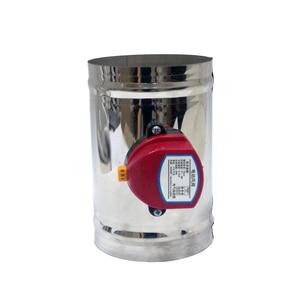 Image 2 - Válvula de compuerta de aire de acero inoxidable, HVAC conducto eléctrico de 80mm, válvula de retención de conducto de ventilación de 3 pulgadas, 220V, 24V, 12V