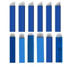 Blue 50pcs Flex 7/9/111/12/13/14/15 Microblading Blades Eyebrow Tattoo Needles Sobrancelha Tatuagem Lamina Microblade