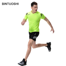BINTUOSHI Running Sets Men Shirts Breathable Gym Tank Top Quick Dry for Fitness Athletic Sport