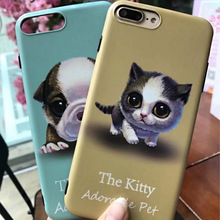 Fashion Cartoon Loverly Cats&Dogs Cover Soft TPU Silicone Cases For Apple iPhone 6 6S 6 Plus 7 7 Plus iphne funda Coque appel