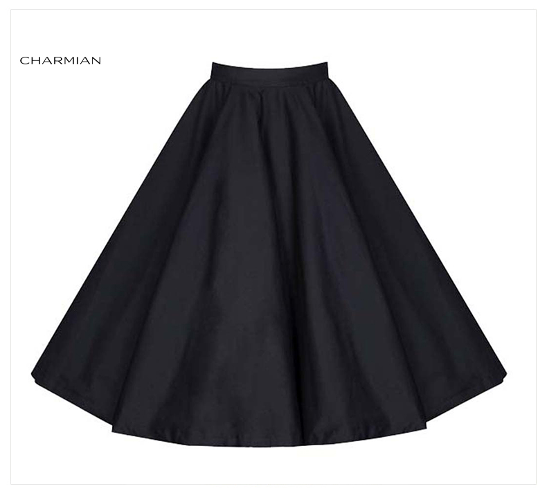 e1180c531 Chairman de la mujer vintage retro falda de cintura alta evasé falda lolita  navidad polka dot floral rockabilly informal saia falda en Faldas de Ropa  ...