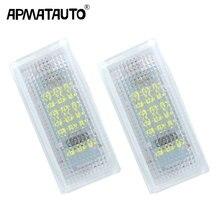 2x для BMW E46 светодио дный номерной знак автомобиля света SMD светодио дный лицензии плиты свет лампы для BMW 3 серии 325i 328i 318 320 E46 2D M3 подтяжку лица