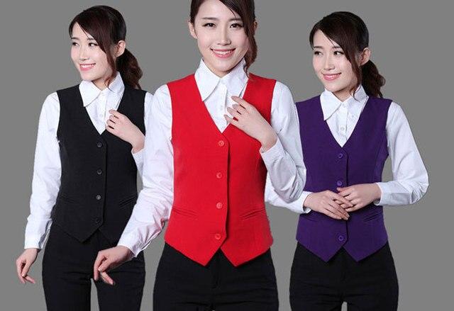 Новый 2016 пр твердых костюм женская жилет дамы тонкий формальное жилеты рукавов жилет женская одежда бесплатная доставка