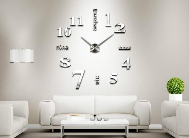 Meya woondecoratie grote klok digitale spiegel wandklok - Orologi da casa moderni ...