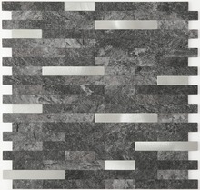 Strip Black Self adhesive kitchen backsplash tiles,LSAP04