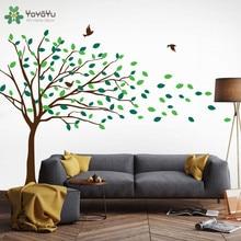 Kids Nursery Wall Decal Tree Pattern Vinyl Wall Stickers For Kids Rooms Blowing Tree Art Mural Livingroom Baby Bedroom DIY SY141 все цены