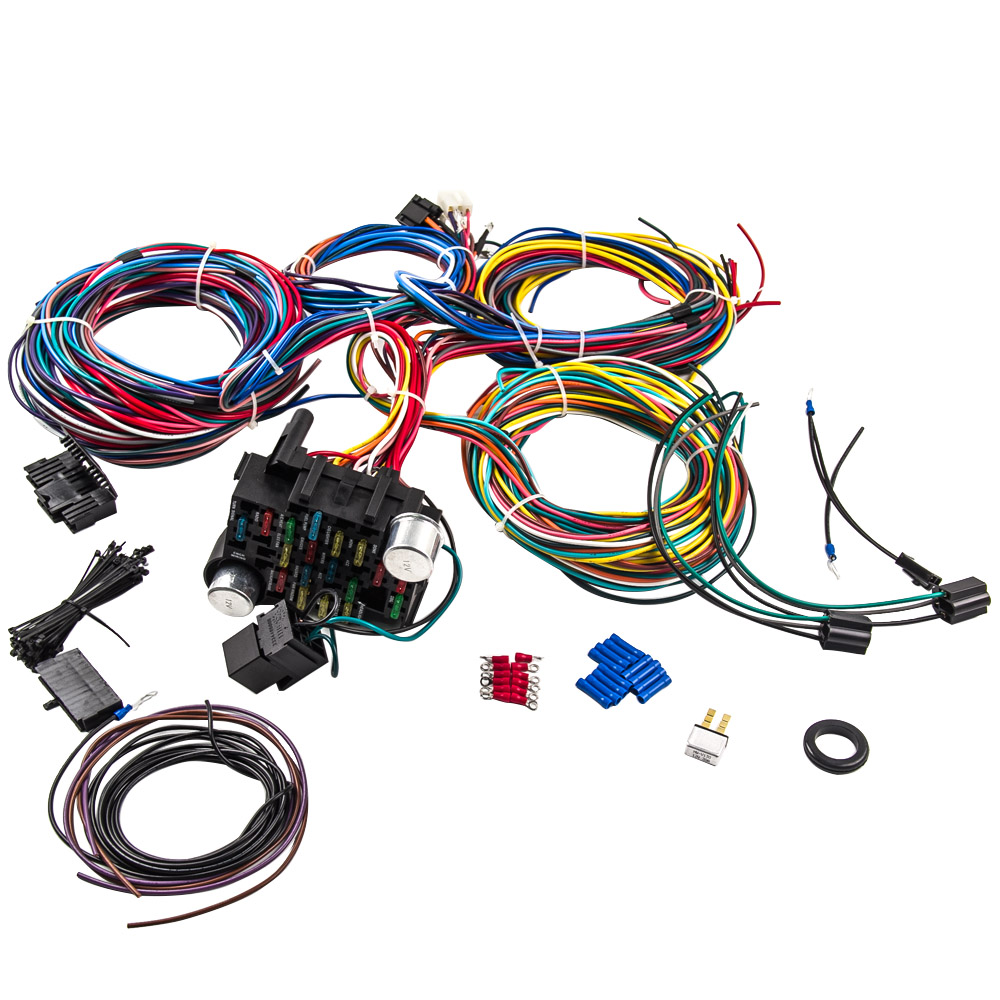 21 circuit wiring harness hot rod universal wire kit for chevy ford aftermarket wiring harness 21 circuit wiring harness hot rod universal wire kit for chevy universal ford wiring harness 21