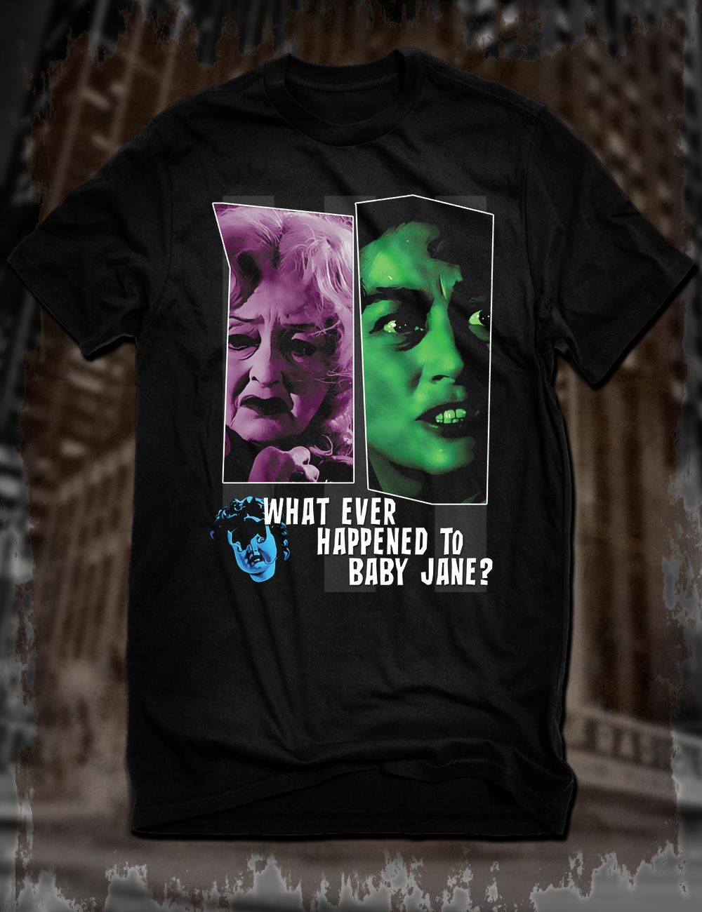 New Black What Ever Happened To Baby Jane T-Shirt Bette Davis Joan Crawford Tee ...