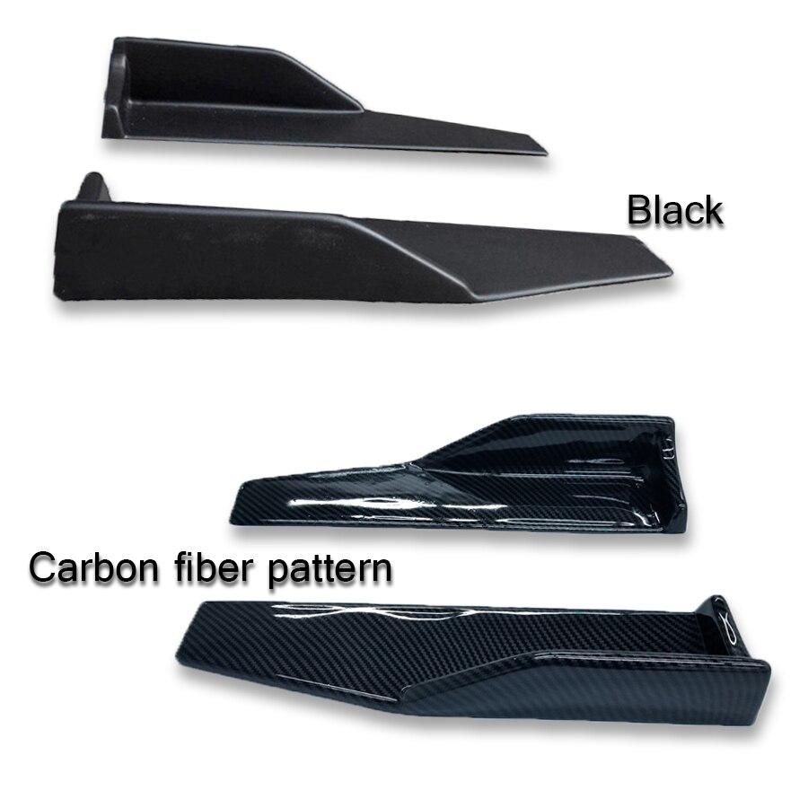 2x Universal Car Side Skirt Rocker Splitters Winglet Wings Canard Diffuser Shovel Decorative Scratch Resistant Winglet