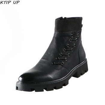 Fashion Military Boots Safety Shoes Winter Shoes Men Warm Plush Casual Fur Boots Men New Keep Warm Winter Male Boots Work Shoes